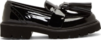 Msgm Black Leather Dr Ladies Tassel Loafers