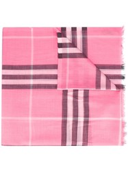 Burberry House Check Scarf Pink Purple