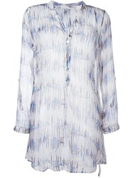 Heidi Klein Long Sheer Printed Shirt White