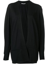 Agnona Open Front Cardigan Black