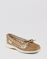 Sperry Boat Shoes Angelfish Caning Linen Gold