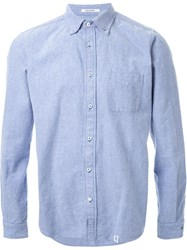 Bedwin And The Heartbreakers Button Down Shirt Blue