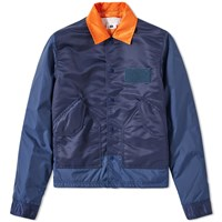 Ganryu Taffeta Twill Coach Jacket Blue