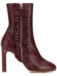Laurence Dacade Ruffle Detail Boots Red