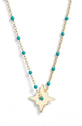 Argentovivo Argento Vivo North Star Enamel Pendant Necklace Gold