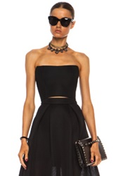 Nicholas Mesh Mini Bustier Top In Black