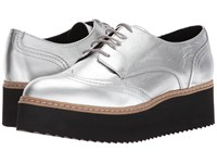 Shellys London Tommy Platform Oxford Silver Shoes
