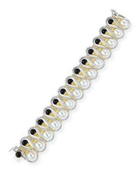 Buccellati 18K Gold Bracelet With Onyx And Pearls