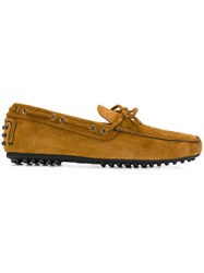 Car Shoe Loafers Leather Suede Rubber Brown