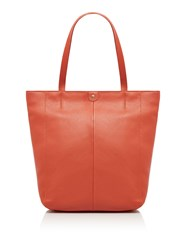 Maison De Nimes Etta Leather Tote Orange