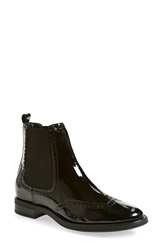 Aquatalia By Marvin K 'Idalah' Weatherproof Wingtip Chelsea Boot Women Black Patent