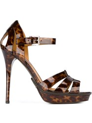 Ralph Lauren 'Jenica' Sandals Brown