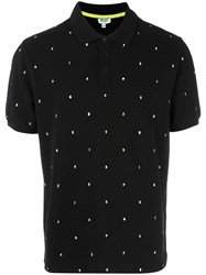 Kenzo Embroidered Letters Polo Shirt Black