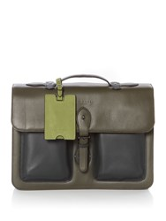 Ted Baker Quint Leather Satchel Green