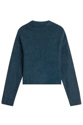 Alexander Wang T By Turtleneck Pullover With Wool And Alpaca Blue