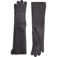 Barneys New York Women's Shearling Lined Long Gloves Dark Grey