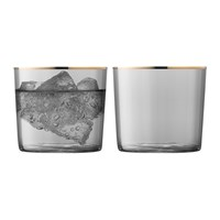 Lsa International Sorbet Tumbler Set Of 2 Liquorice