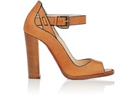 Christian Louboutin Women's Habibabe Leather Ankle Strap Sandals Tan No Color Tan No Color