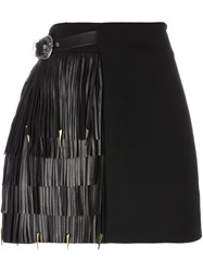 Fausto Puglisi Fringed A Line Skirt Black