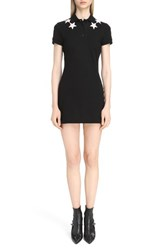 Givenchy Women's Star Embellished Polo Dress Black Pink