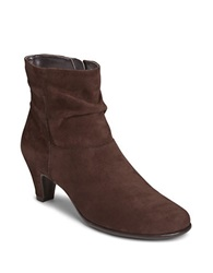 Aerosoles Red Light Slouchy Ankle Boots Dark Brown