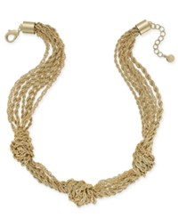 Charter Club Gold Tone Multi Layer Knotted Necklace Only At Macy's