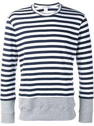 Comme Des Garcons Shirt Striped Sweatshirt Blue