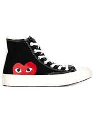 Comme Des Garcons Play Hi Top Trainers Black