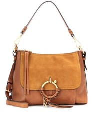 See By Chloe Joan Small Leather And Suede Crossbody Bag Brown