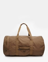 Fred Perry Cotton Canvas Carryall Green