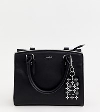 Aldo Black Minimal Structured Tote Bag