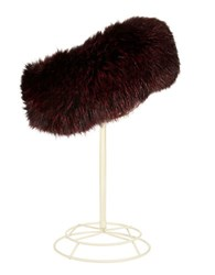Surell Fox Fur Headband Black Cherry