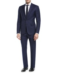 Ralph Lauren Railroad Striped Twill Two Piece Suit Navy