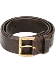 Dondup Square Buckle Belt Brown