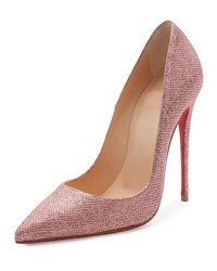 Christian Louboutin So Kate Glitter 120Mm Red Sole Pump Poudre