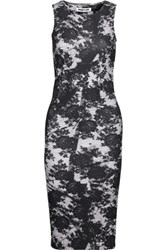 Mcq By Alexander Mcqueen Printed Stretch Cotton Dress Black