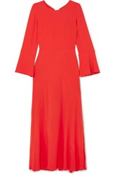 Paul And Joe Firenz Open Back Crepe De Chine Dress Red