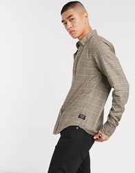 Scotch And Soda Classic Check Long Sleeve Shirt Brown