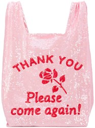 Ashish Sequinned Shopping Tote Bag Pink And Purple