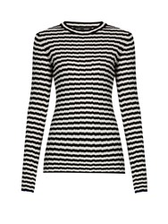 Proenza Schouler Striped Silk And Cashmere Blend Sweater Black Stripe