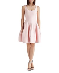 Halston Heritage Faille Tulip Skirt Dress Lotus