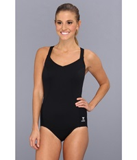 Tyr Solid Halter Controlfit Swimsuit Black Women's Swimsuits One Piece