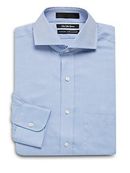 Saks Fifth Avenue Black Classic Fit Dress Shirt Blue