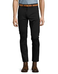 Selected Slim Fit Belted Chino Pants Black