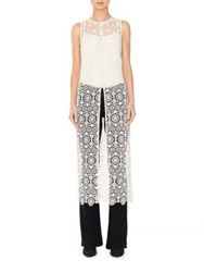 Alice Olivia Gretchen Long Front Slit Tunic Off White