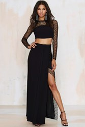 Nasty Gal Foxiedox Let Me Lace You Maxi Skirt