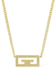Givenchy Gold Logo Necklace