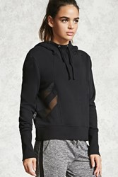 Forever 21 Active Mesh Paneled Hoodie