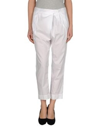Nude Casual Pants White