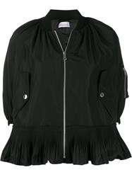 Red Valentino Cropped Pleated Zipped Jacket 60